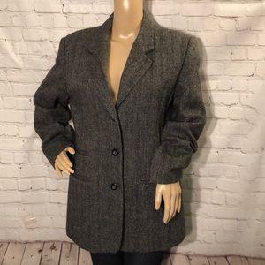 Vintage Character Wool/Tweed Blazer Timeless 10